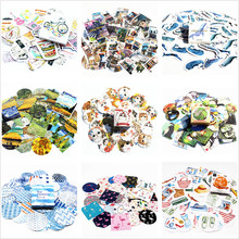40pcs / set 20 style notebook diary sticker package post this lovely toy toy school mackerel planner clip