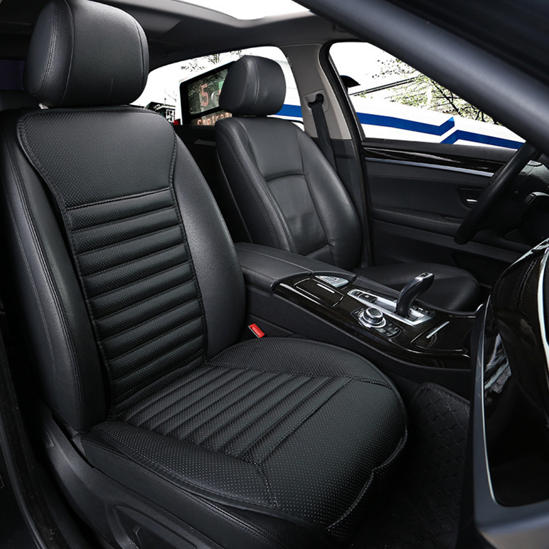Car Seat Cover PU Leather Universal Auto Four Seasons Breathable Seat cushion Protector Front Seat Covers Interior Accessories car styling elastic full seat covers universal fit front back seat protector cushion cover auto chair interior accessories