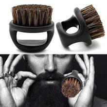 Brosse à poils en plastique ABS noir brosse à barbe scheerkwast brosse à barbe brosse barbe cepillo barba szczotka do brody
