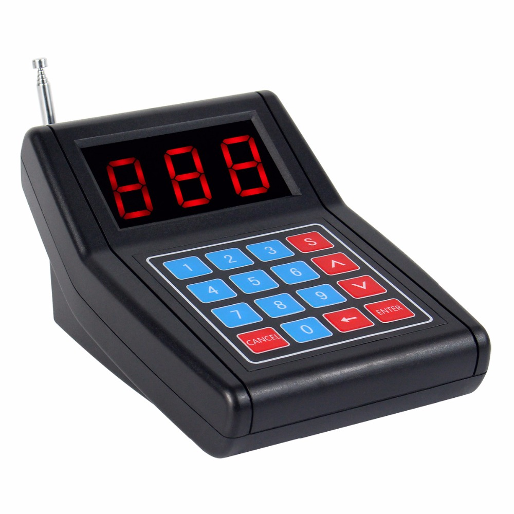Système d'appel de Restaurant téléavertisseur sans fil système de mise en file d'attente pour invités Beeper 1 transmetteur de clavier + 10 téléavertisseurs - 3