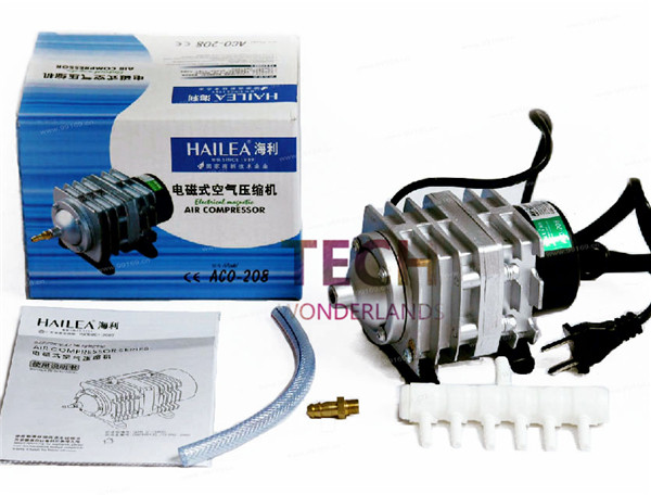 1 piece NEW 45L/min 25 W HAILEA ACO-208 Électromagnétique Compresseur D'air d'aquarium pompe à air aquarium aqua Air pompe