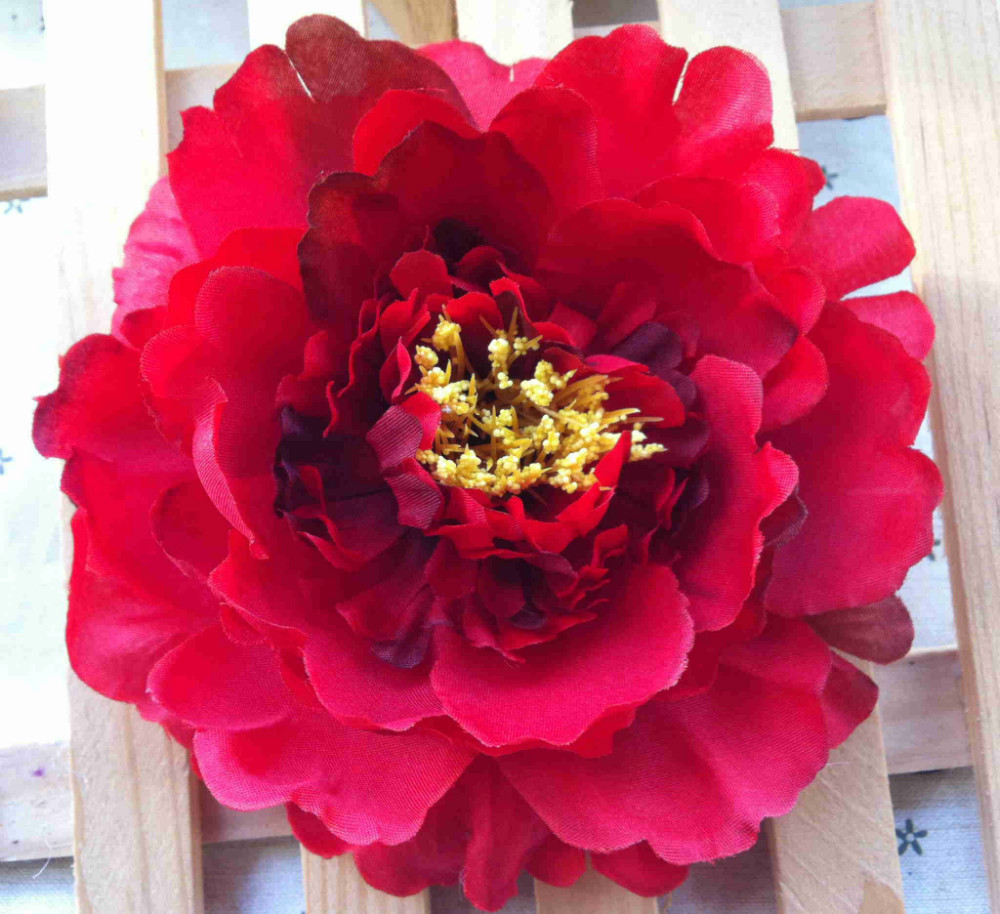 Artificial flower Big fower Peony hair accessories 5 Inch fabric flowers for girls headband flower crown wholesale 50PCS