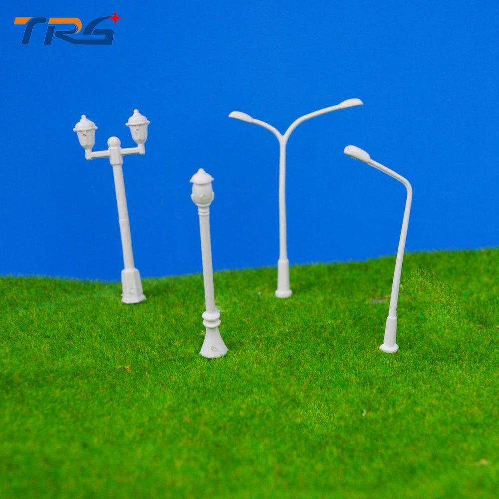 Teraysun 400 Pcs/Lot 4 types Streets Lamp Model for model building kits Scale 1:300 Plastic Lamppost Model Railway Street Light