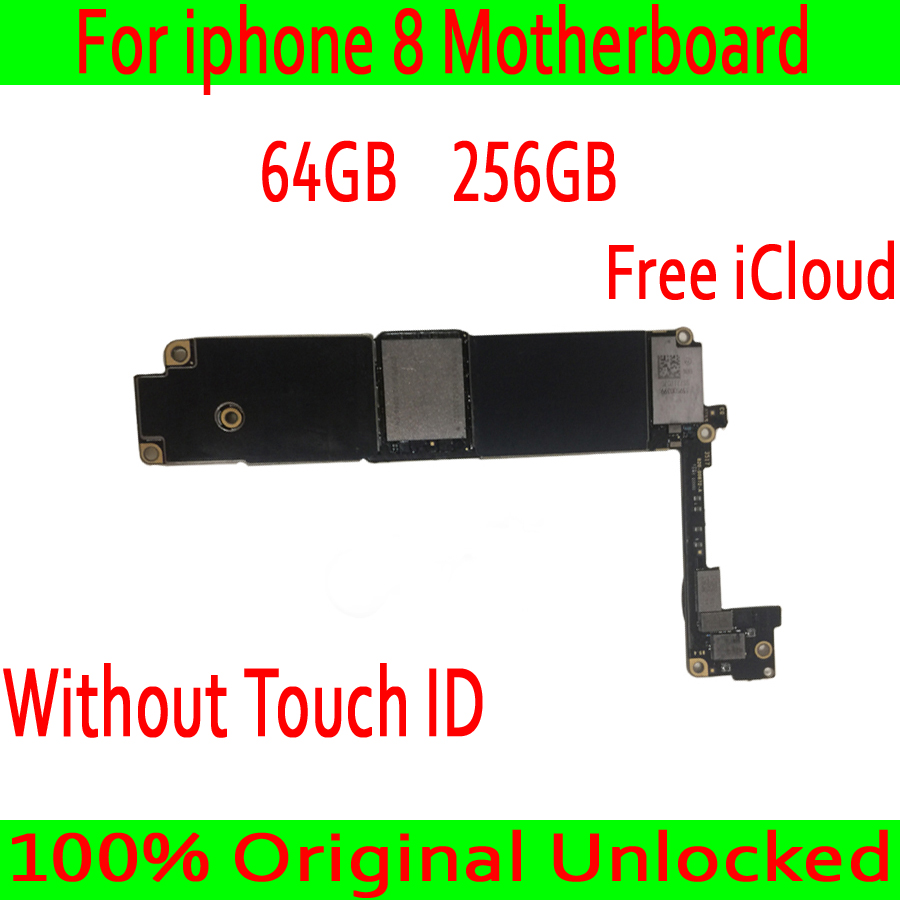 Free iCloud for iphone 8 Motherboard with Full Chips,Original unlocked for iphone 8 Mainboard without Touch ID,64GB / 256GB