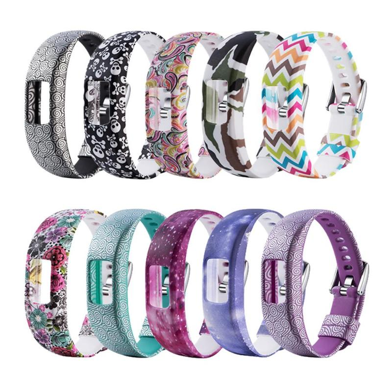 ALLOYSEED Colorful Pattern Silicone Replacement Wrist Band Strap For Garmin Vivofit 4 Samsung Gear 2 3S Smart Bracelet Wristband
