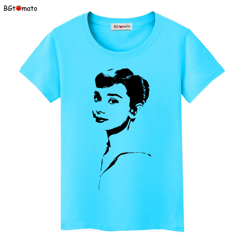 BGtomato Audrey Hepburn beautiful women fashion shirts summer short sleeve fashion design tops Brand comfortable casual shirts