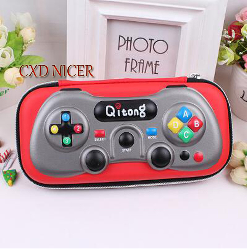 Game Machine Hard Shell Pencil Case Student Boy Fashion Eva Material Red Blue Pencil Box Stationary Store Pencil Cases Chancery game boy картридж diskus