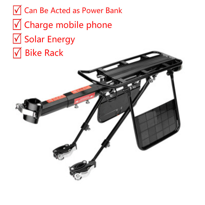 2018 Bike Luggage Cargo Rear Rack Can Be Acted as Power Bank Useful Bicycle Rear Carrier Racks New Bicycle Accessories 2018 bike luggage cargo rear rack can be acted as power bank useful bicycle rear carrier racks new bicycle accessories