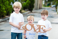 6 Photo Sign Love Family Christmas Card Sign Holiday Cards Photography Prop Family Card