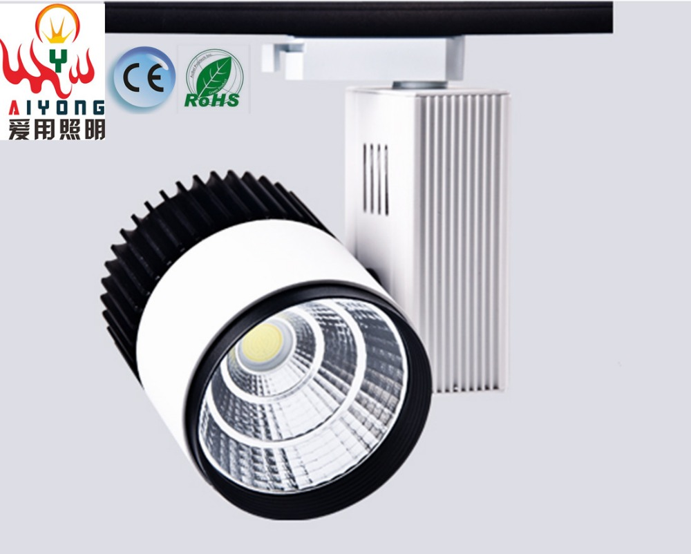 Free shipping 30w COB track light LED track light clothing exhibition hall the LED to shoot the light with the window led track light50wled exhibition hall cob track light to shoot the light clothing store to shoot the light window