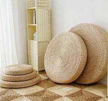 4 Size Hot Natural Straw Round Pouf Tatami Cushion Floor Cushions Meditation Yoga Mat Zafu Chair 40/45/50/60 cushion