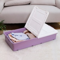 1x Large Under Bed Plastic Storage Box Wheeled with Lids Shoes Clothes Organiser Box Storage Container DQ9051xilie
