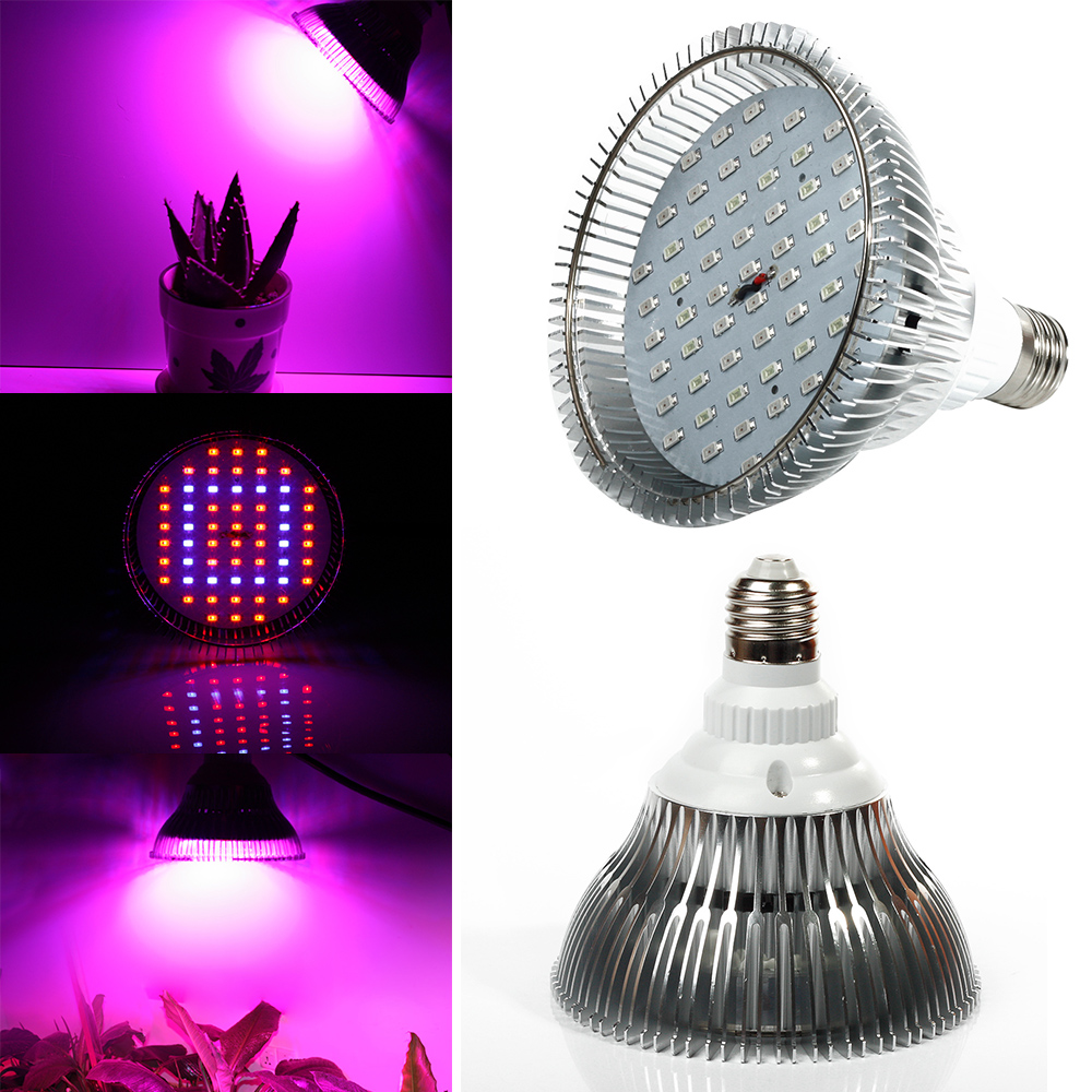 Full Spectrum 24W 36W 52W 58W E27 LED Grow Lights LED Horticulture Grow Light for Garden Flowering Plant and Hydroponics System 1pc led grow lights e27 15w 3 red 2 blue for flowering plant and hydroponics greenhouse led lamp full spectrum free shipping