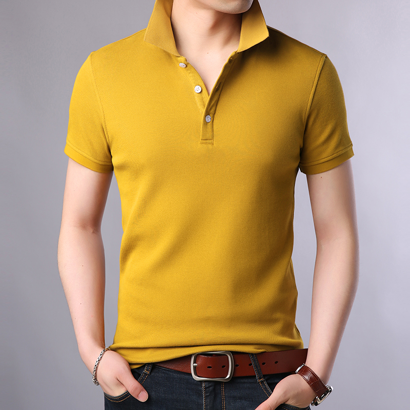 2019 New Fashion Brands Polo Shirt Men's 100% Cotton Summer Slim Fit Short Sleeve Solid Color Boys Polos Casual Mens Clothing