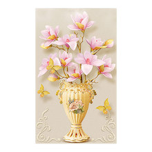 Flower vase Vertical Moge Diamond Painting Full Round Magnolia New DIY Sticking Drill Cross Embroidery 5D simple Home Decoration