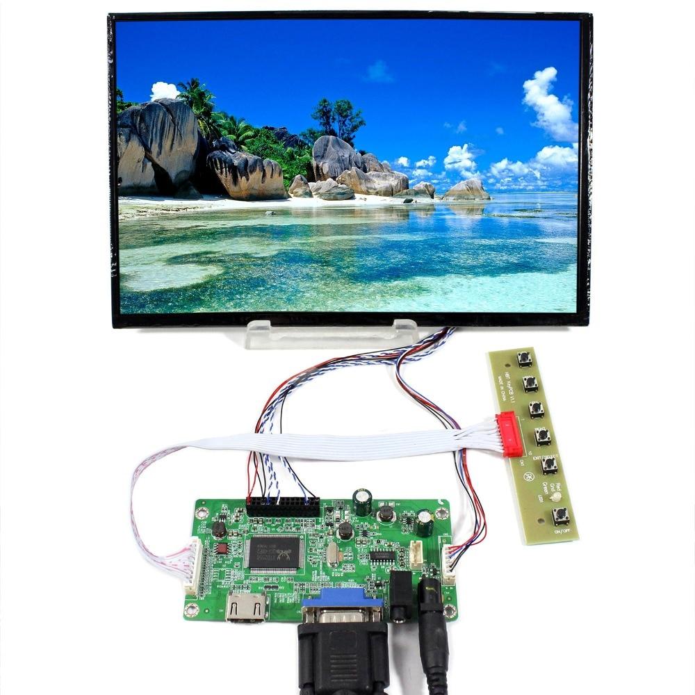 HDMI VGA LCD Controller Board+10.1inch 1920x1200 B101UAN01.A LCD Screen b101uan01 b101uan02 b101uat02 modified display driver board kit 1920x1200