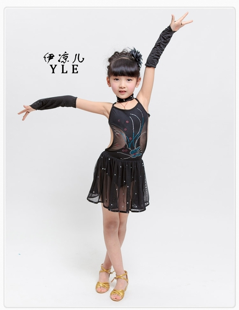 bf0851ed3 2017 Young Girls Latin Dance Clothing Hot Selling Children Dance ...