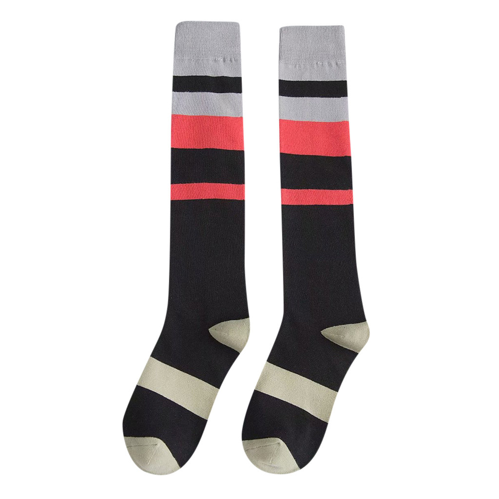 feitong woman's printed stripes multicolor socks winter warm high quality cotton sock christmas gift for girl's friends#y30