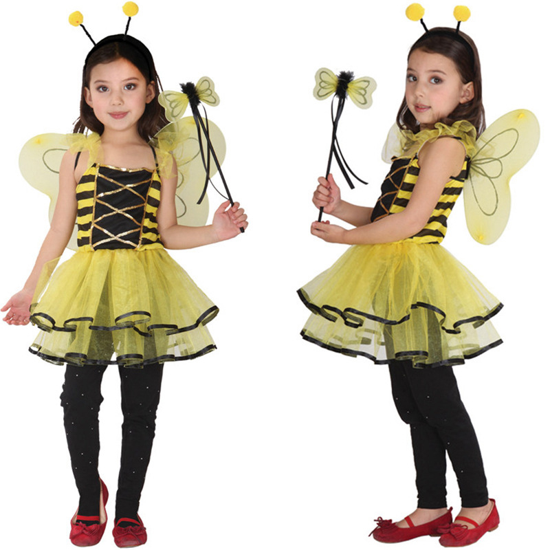Halloween children's cosplay play costume masquerade play children's animal elf flower fairy costume cute butterfly ladybug image