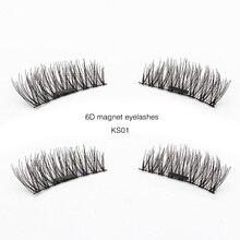 Genailish 6D Magnetic Eyelashes False Eyelashes Natural Long Eyelashes Full Strip Magnet Lashes Hand Made Fake