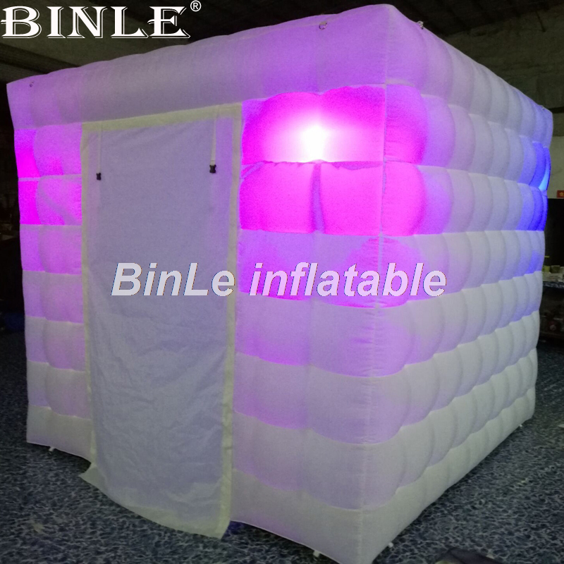 все цены на Cheap lighting portable mini led cube inflatable tent inflatable photo booth tent price for wedding party events