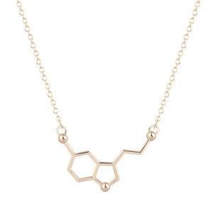 Image 1 - Kinitial 30 قطعة السيروتونين قلادة السيروتونين جزيء 5 ht قلادة الكيمياء قلادة هرمون DNA سلسلة قلادة مجوهرات