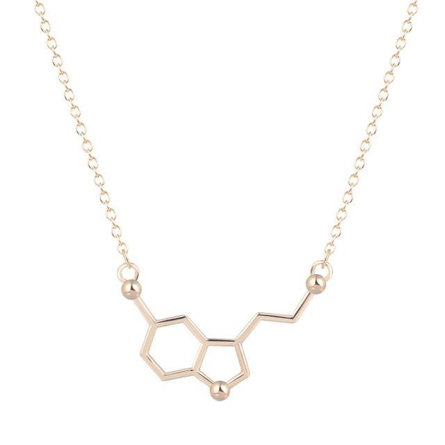 Kinitial 30 قطعة السيروتونين قلادة السيروتونين جزيء 5 ht قلادة الكيمياء قلادة هرمون DNA سلسلة قلادة مجوهرات