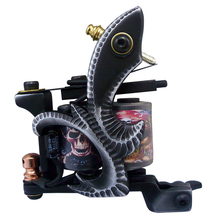 Newest Professional 10 Wraps Coil Tattoo Machine Gun Handmade Machine For Liner Shader Equipment Supply MZZ020-5