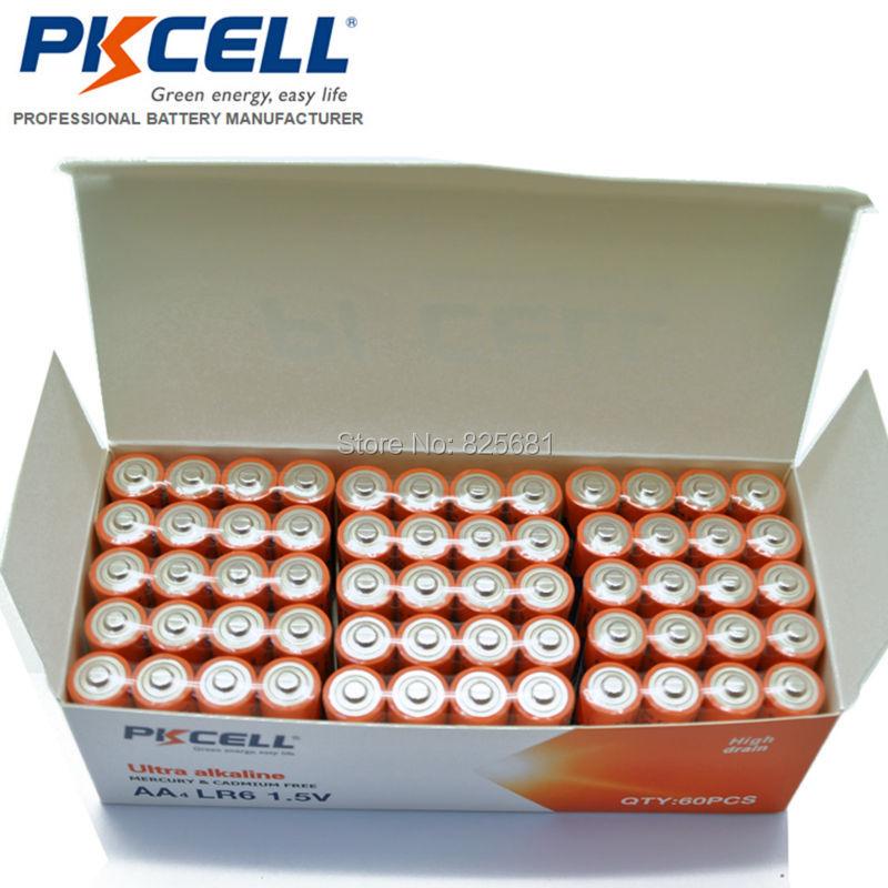 60Pcs AA Batteries LR6 Alkaline Battery 1 5v LR6 Superior AA R6P ER14505 For Power Remote