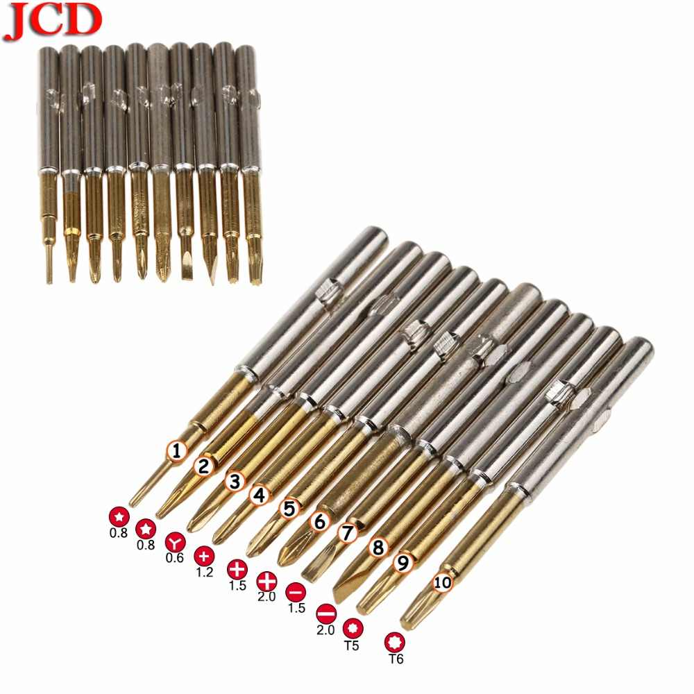 JCD Mini Precision Screwdriver head Hands Tools for iPhone 4S 5S 6 6S 7 8 plus X ect Phone Tablet Repair for Xiaomi 2s 3 4 5 6