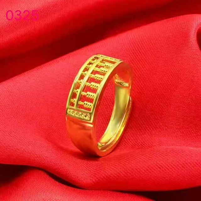 GRGEUS jewelry Fashion Abacus gold Ring For Men Women High Quality Maths Number jewelry wholesale men ring