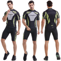 Men's Short Sleeve Cycling Jersey Padded Short Sportswear Suit Set Breathable Cycling Cloth Set Cycling Clothing bike Wear