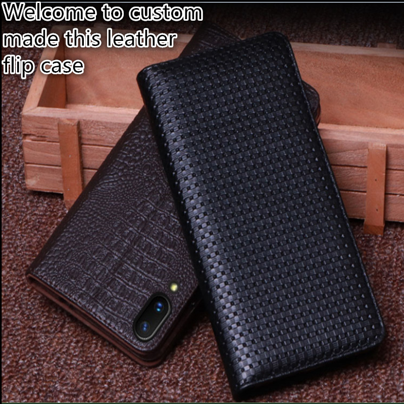 RL04 Genuine Leather Phone Cover With Kickstand For OPPO R15 Dream Mirror Phone Case For OPPO R15 Pro Flip Cover Case