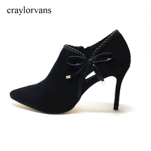 Sexy Ankle Boots For Women With Fur Botas Mujer Women Boots 2017 Shoes Woman High Summer Heels Snow Boots Women Pointed Toe