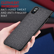 Fabric Cloth Leather Phone Case For Apple iPhone X XR XS Max 8 7 6S 6 Plus Fashion TPU Canvas Cover Cases