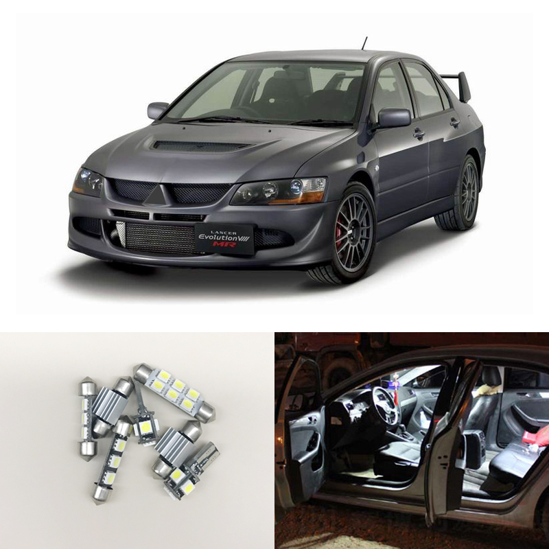 7Pieces Interior Led Package Kit Bulbs For Mitsubishi