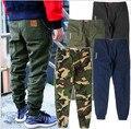 2017 Moda de Nueva Marca Pantalones Cargo Camo Joggers Mens Pantalones Hiphop Swag Calca Pantalón Chino Patineta Streetwears