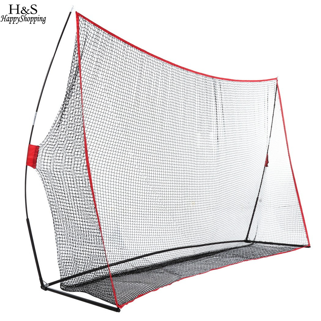 10 x 7ft Golf Practice Training Net with Bow Frame Durable and portable golf training net crestgolf new nsr women golf bag club sets with half leather and nylon golf bag set sport golf club practice training sets