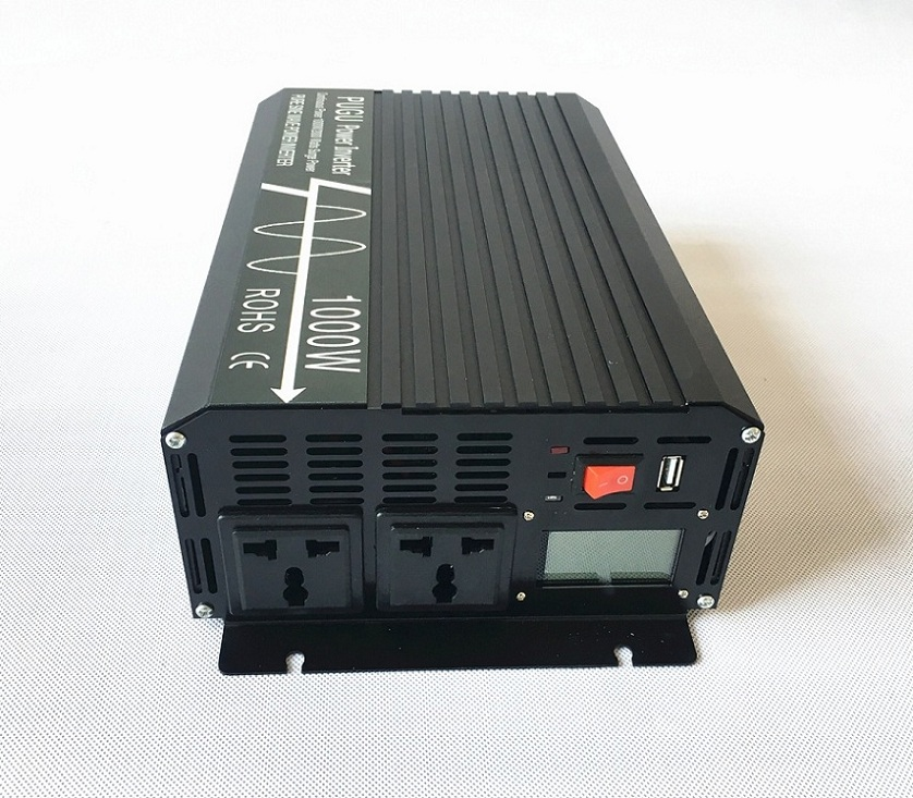 1000W Off Grid Pure Sine Wave Solar Power Inverter Peak Power 2000W 48V DC to 220V/230V/240V AC 50HZ with LCD Display