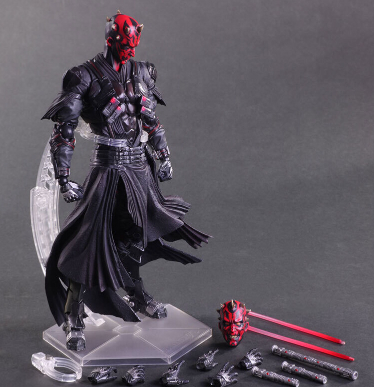 Star Wars Action Figure Darth Maul Model Toy PLAY ARTS Star Wars Darth Maul PVC Action Figure Star Wars Darth Maul Playarts 2005 tu lin feng huang red boxed tuo nest bowl 250g yunnan organic pu er raw tea sheng cha weight loss slim beauty
