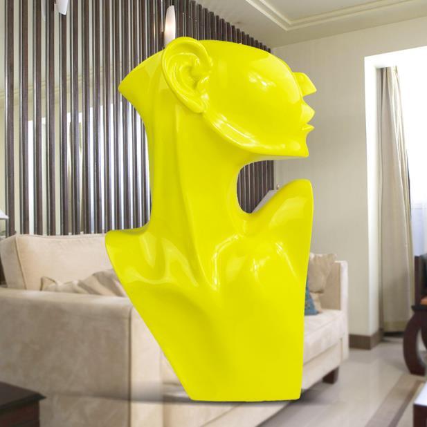 Abstrait moderne dame sculpture résine méditation fille statue ange amant figurine salon art nouveau décoration loft décor-in Statues et sculptures from Maison & Animalerie    1