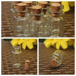 Image 4 - 100PCS Empty Clear Small Glass Bottles Vials Container with Corks Jars 0.5/1/1.5/2/2.5/5 ml