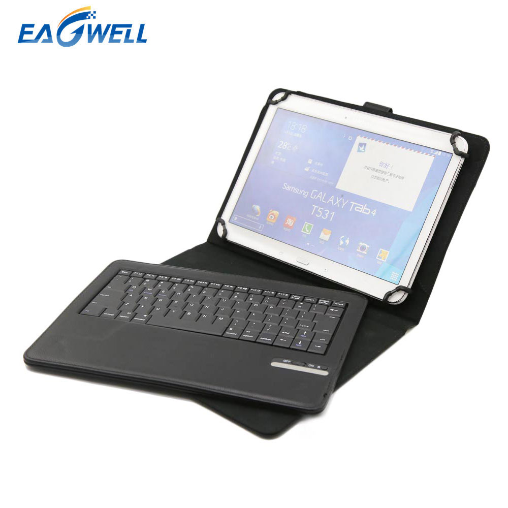 Universal Tablet Bluetooth Keyboard Leather Case Cover For 9.7 10 10.1 inch Tablet PC for iPad 2 3 4 Air 2 Samsung Lenovo Tablet universal crazy horse leather stand cover for ipad air sony xperia tablet z 10 inch tablet pc black