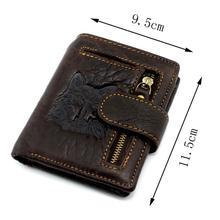 MICKY KEN, хит, новинка, мужской кожаный бумажник с волком, тотем, Doka, двойной кошелек на молнии, высокое качество, кошелек, модный кожаный кошелек с отделением для монет