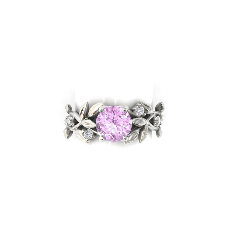 BCCAT 2018 Hot Flowers 5 Colors Finger Rings Silver Plated Rings For Women Crystal Middle Ring Fashion Jewelry