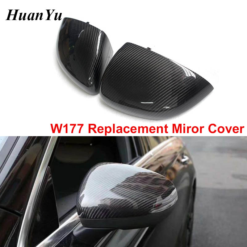carbon fiber Replacement for Mercedes Benz AMG GLA45 car mirror cover cap ABS