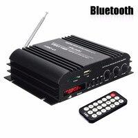 KROAK 4 Channel Audio Amplifier HiFi Stereo Wireless Bluetooth Amplifier Audio MP3 Player Remote Control For