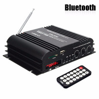 KROAK 4 Channel Audio Amplifier HiFi Stereo Wireless Bluetooth Amplifier Audio MP3 Player Remote Control For