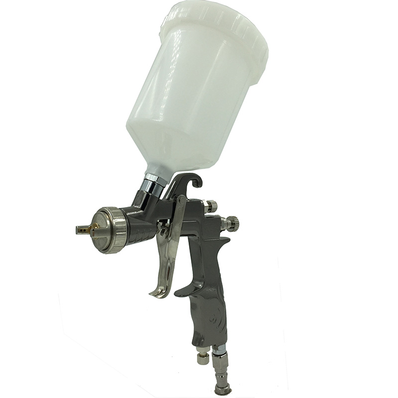 SAT0083 High Pressure Car Paint Sprayer Power Tools Pneumatic Automotive Paint Gun LVLP Air Chrome Mirror Chrome Spray Paint Gun sat0083 professional air paint sprayer lvlp gun air paint spray gun nozzle 1 4 pneumatic tools gravity feed and lvlp spray gun