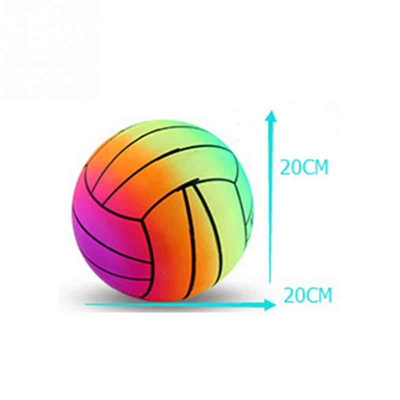 Rainbow PVC Volleyball Ball Indoor Outdoor Garden Summer Beach Pool Swim Competition Training Volleyball Beach Kids Toy 1